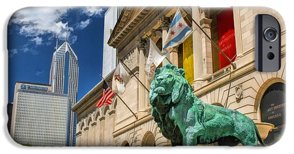 Chicago Paintings iPhone Cases - Art Institute in Chicago iPhone Case by Christopher Arndt