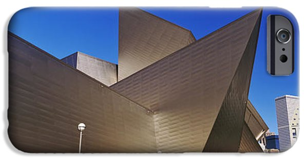 Architectural Feature iPhone Cases - Art Museum In A City, Denver Art iPhone Case by Panoramic Images