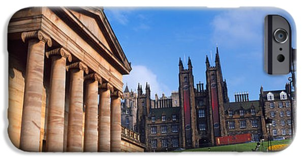 Mounds iPhone Cases - Art Museum With Free Church Of Scotland iPhone Case by Panoramic Images