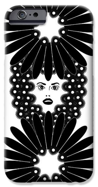 Large Drawings iPhone Cases - Art Nouveau Design 453 iPhone Case by Frank Tschakert