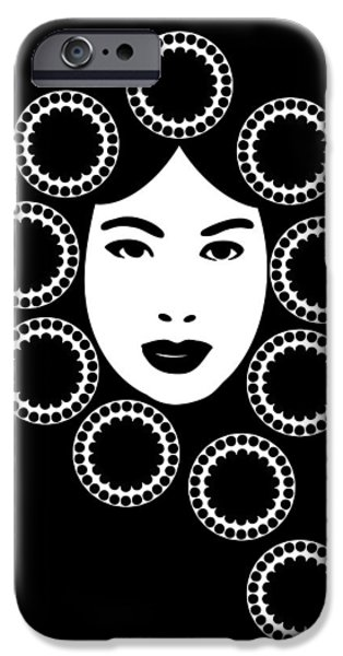 Chinese Woman iPhone Cases - Art Nouveau Design iPhone Case by Frank Tschakert