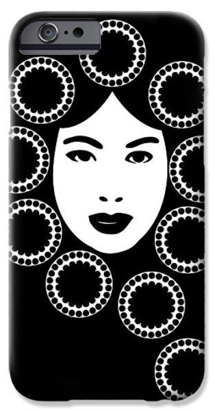 Nouveau Drawings iPhone Cases - Art Nouveau Design iPhone Case by Frank Tschakert