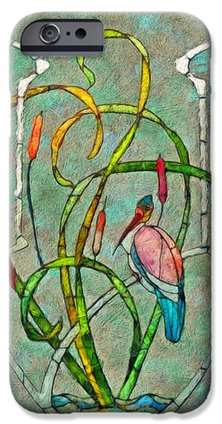 French Open iPhone Cases - Art Nouveau iPhone Case by Jack Zulli