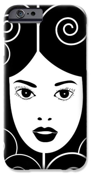 Nouveau Drawings iPhone Cases - Art Nouveau Poster iPhone Case by Frank Tschakert
