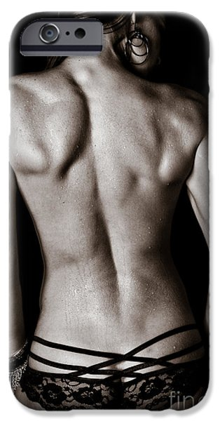 Athlete Photographs iPhone Cases - Art of a Womans Back Muscles  iPhone Case by Jt PhotoDesign