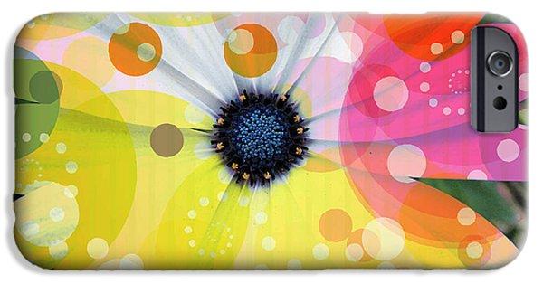 Botanic Illustration iPhone Cases - Art of flowers 1 iPhone Case by Dhouib Skander