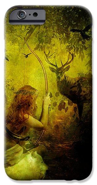 Mythology iPhone Cases - Artemis iPhone Case by Karen K
