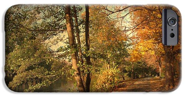 Autumn Digital iPhone Cases - Artful Autumn iPhone Case by Jessica Jenney