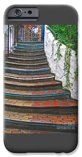 Village iPhone Cases - Artful Stair Steps iPhone Case by Ann Horn