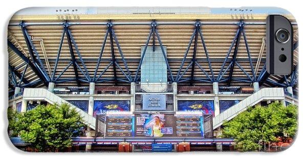 Sharapova iPhone Cases - Arthur Ashe Tennis Stadium iPhone Case by Nishanth Gopinathan