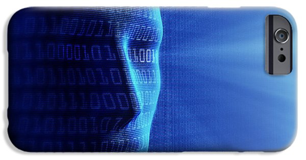 Cyberspace iPhone Cases - Artificial intelligence iPhone Case by Johan Swanepoel