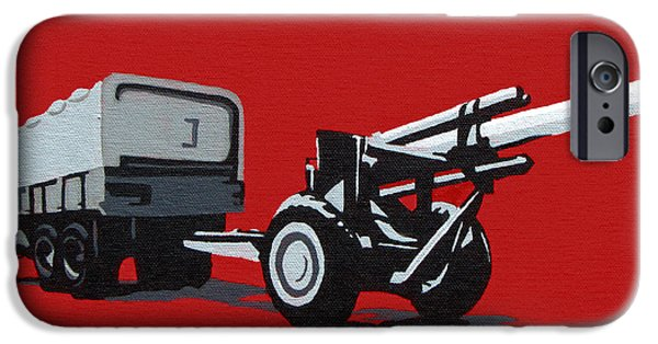 Iraq Paintings iPhone Cases - Artillery Gun iPhone Case by Slade Roberts