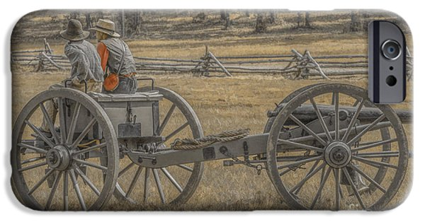 Artillery iPhone Cases - Artillery to the Front iPhone Case by Randy Steele