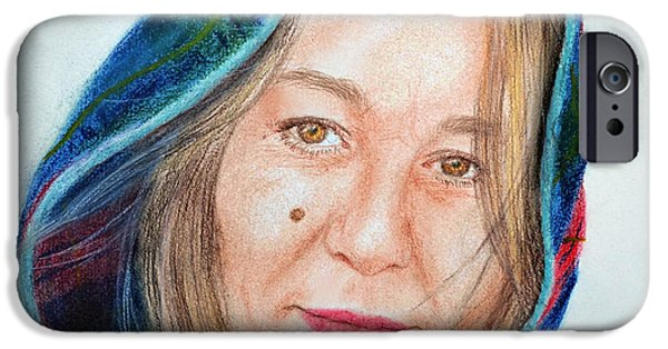 Beauty Mark iPhone Cases - Artist Jadranka Bezanovic Sovilj  iPhone Case by Jim Fitzpatrick