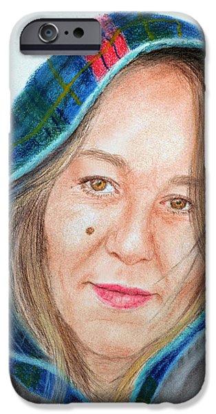 Artist Jadranka Bezanovic Sovilj  iPhone Case by Jim Fitzpatrick