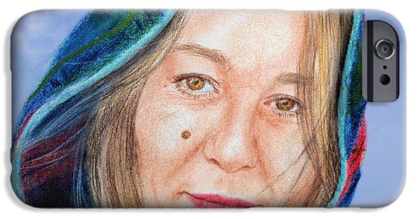 Beauty Mark iPhone Cases - Artist Jadranka Bezanovic Sovilj  Version II iPhone Case by Jim Fitzpatrick