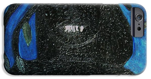 Google Mixed Media iPhone Cases - The Artists Smile iPhone Case by Karen Serfinski