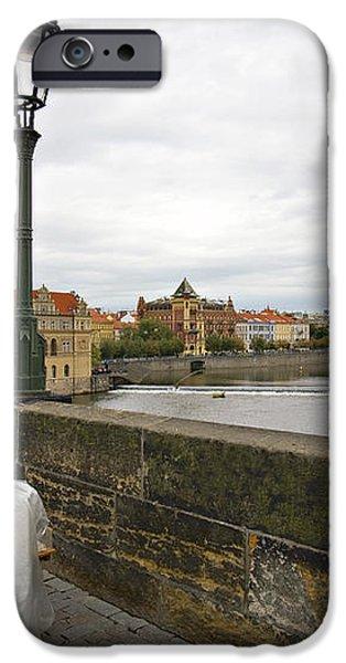 Artist on the Charles Bridge - Prague iPhone Case by Madeline Ellis