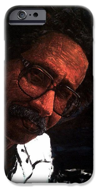 Singer Sculptures iPhone Cases - Artist iPhone Case by Osman Alharith