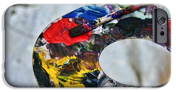Painter Photographs iPhone Cases - Artist Palette of color iPhone Case by Paul Ward