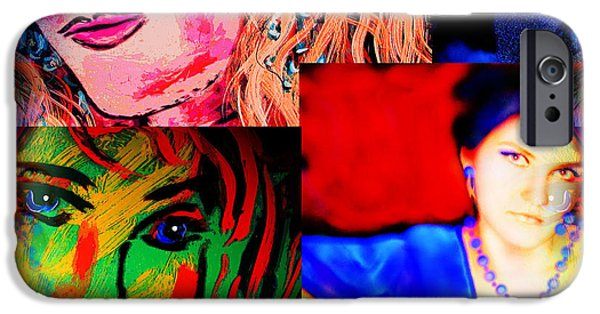 Self-portrait Mixed Media iPhone Cases - Artist Self Portrait iPhone Case by Natalie Holland