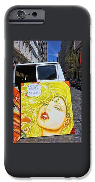 Artist with Attitude iPhone Case by Allen Beatty