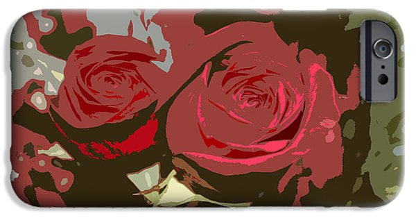 Recently Sold -  - Floral Digital Art Digital Art iPhone Cases - Artistic Roses iPhone Case by Karen Nicholson