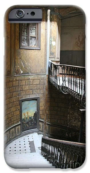 Tbilisi Photographs iPhone Cases - Artistic staircase in Tbilisi iPhone Case by Lali Kacharava