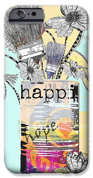 Surtex Licensing iPhone Cases - HAPPY happi art print iPhone Case by Anahi DeCanio
