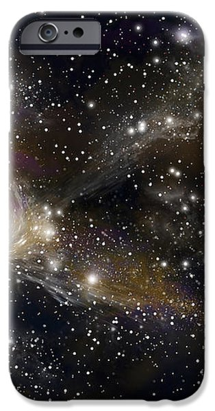 Artists Concept Of A Black Hole iPhone Case by Marc Ward
