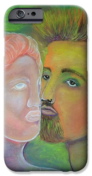 Greek Sculpture Paintings iPhone Cases - Artists Muse iPhone Case by Michaela Kraemer