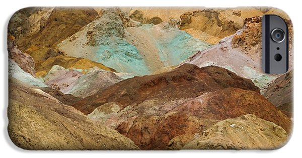 Fieldstone iPhone Cases - Artists Paint Palette Abstract iPhone Case by Heidi Smith