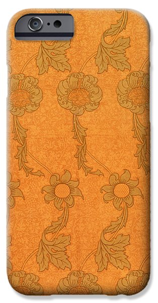 Design Tapestries - Textiles iPhone Cases - Arts and Crafts design iPhone Case by William Morris