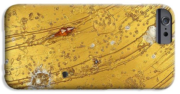 Heart Reliefs iPhone Cases - Artscape No. 5 The golden flow of serenity iPhone Case by Heidi Sieber