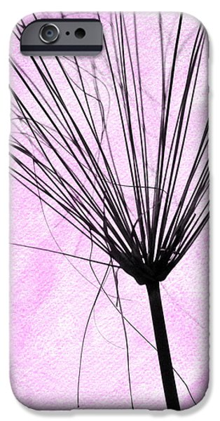 Pinky iPhone Cases - Artsy weed in Pink iPhone Case by Sabrina L Ryan