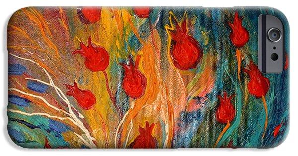 Flower Of Life iPhone Cases - Artwork fragment 11 iPhone Case by Elena Kotliarker