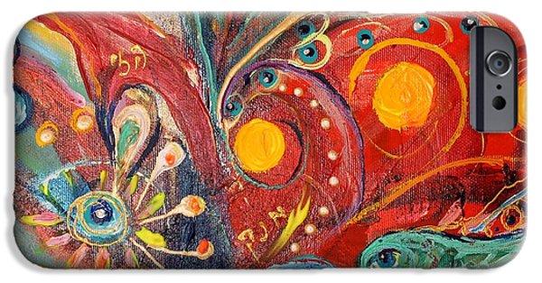 Flower Of Life iPhone Cases - Artwork Fragment 14 iPhone Case by Elena Kotliarker