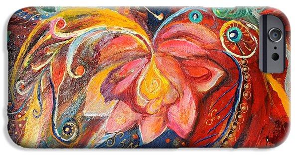 Flower Of Life iPhone Cases - Artwork Fragment 15 iPhone Case by Elena Kotliarker