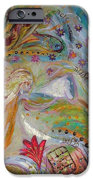 Artwork Fragment 17 iPhone Case by Elena Kotliarker