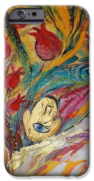 Flower Of Life iPhone Cases - Artwork Fragment 18 iPhone Case by Elena Kotliarker