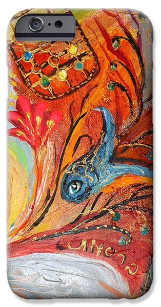 Flower Of Life iPhone Cases - Artwork Fragment 19 iPhone Case by Elena Kotliarker