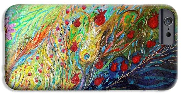 Flower Of Life iPhone Cases - Artwork Fragment 37 iPhone Case by Elena Kotliarker