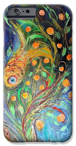Flower Of Life iPhone Cases - Artwork Fragment 38 iPhone Case by Elena Kotliarker