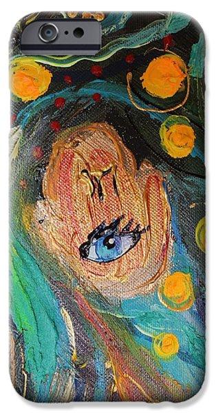 Flower Of Life iPhone Cases - Artwork Fragment 39 iPhone Case by Elena Kotliarker