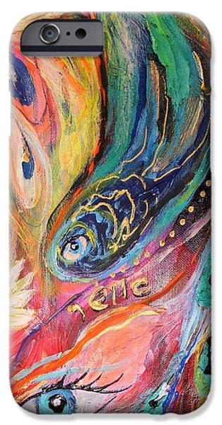 Artwork Fragment 40 iPhone Case by Elena Kotliarker