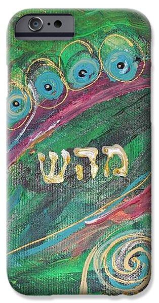 Artwork Fragment 41 iPhone Case by Elena Kotliarker