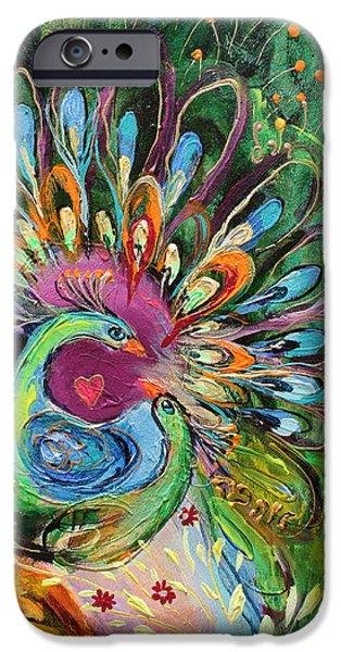 Flower Of Life iPhone Cases - Artwork Fragment 51 iPhone Case by Elena Kotliarker