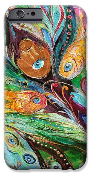 Flower Of Life iPhone Cases - Artwork Fragment 56 iPhone Case by Elena Kotliarker