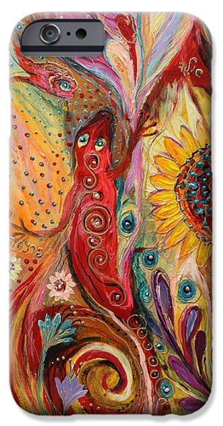 Flower Of Life iPhone Cases - Artwork Fragment 59 iPhone Case by Elena Kotliarker