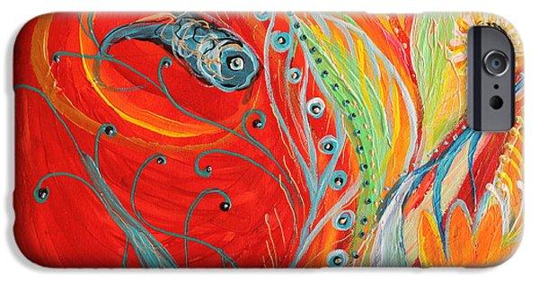 Flower Of Life iPhone Cases - Artwork Fragment 62 iPhone Case by Elena Kotliarker